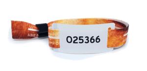 pulseira com numeração sequencial