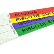 sinalização de risco hospitalar cores