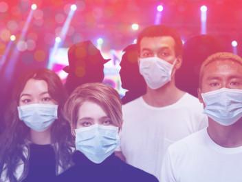 pandemia de coronavírus covid19 eventos pessoas com máscaras