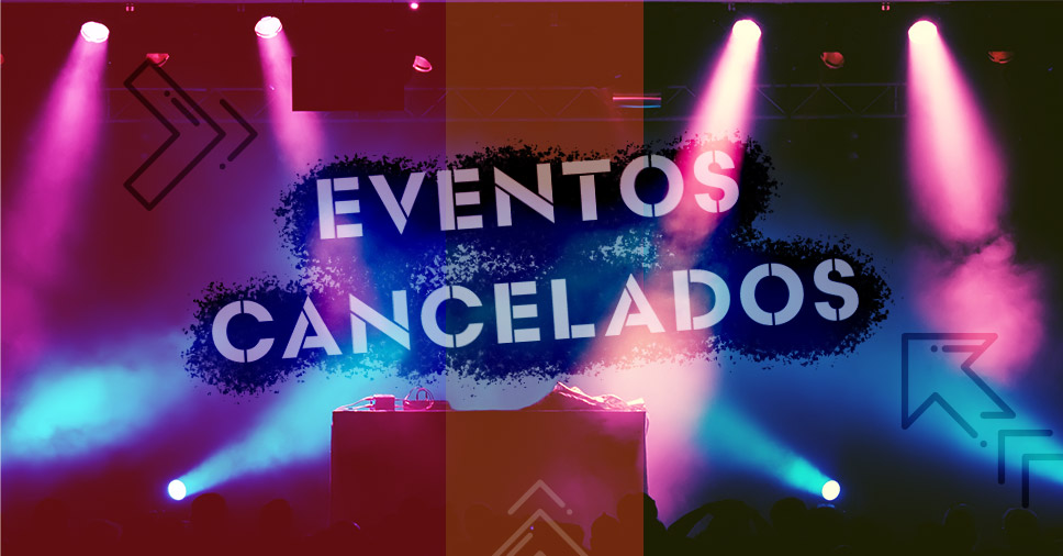 aviso de eventos cancelados coronavírus