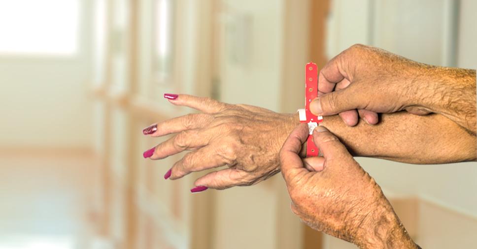 pulseira de identificação hospitalar