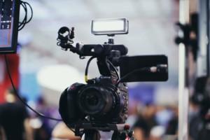 câmera de filmagem para vídeo ao vivo