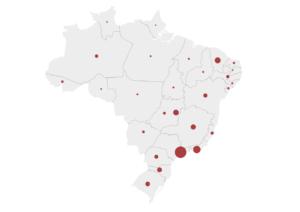 mapa brasil coronavírus