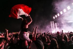 público de festival de música